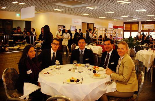 There were 3 Les Roches Student Ambassadors who guided the guests throughout the day and had lunch with them.