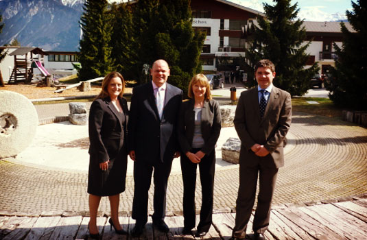 Mrs. Nicola Forshaw, HR Director, Mr. Douglas Glen, Hotel Manager Landmark Hotel London, Mrs. Joanne Norris-Smith, Career Development & Industry Placement  & Mr. Matthieu Mioche, Career Placement Manager for Les Roches.