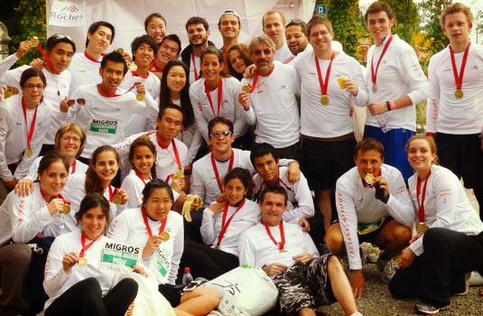 Les Roches Hospitality school run the Lausanne Marathon