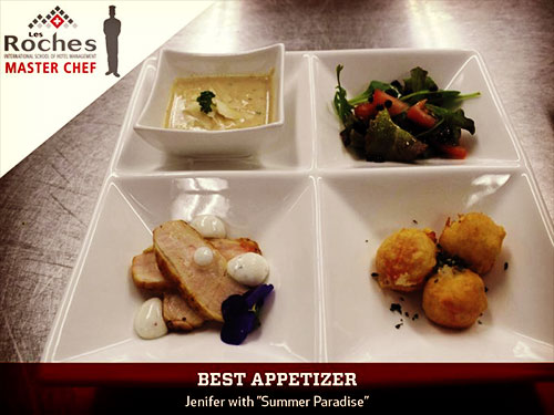 Jenifer was declared the winner based on the presentation, taste, temperature, and creativity of her three course meal.